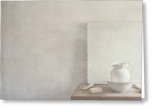 Soap and Jug Greeting Card by Paul Grand