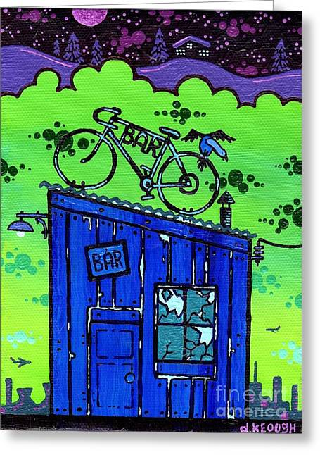 Basement Paintings Greeting Cards - Soc. Ept. 1 Greeting Card by Dan Keough