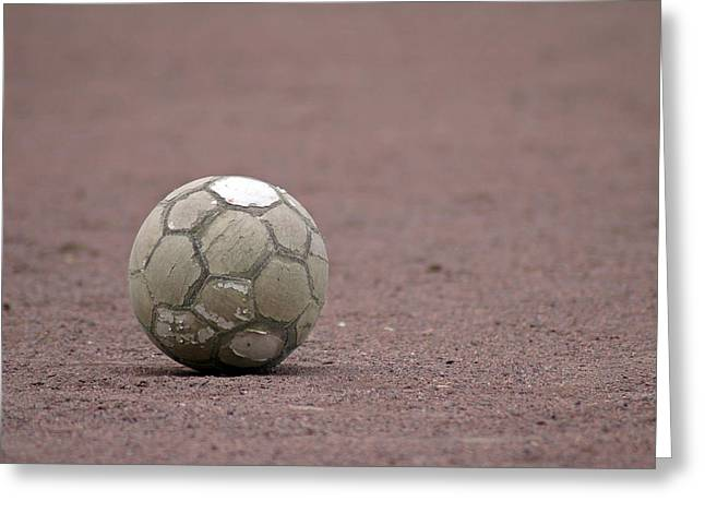 Fussball Greeting Cards - Soccer ball Greeting Card by Matthias Hauser