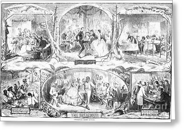 SOCIAL ACTIVITIES, 1861 Greeting Card by Granger
