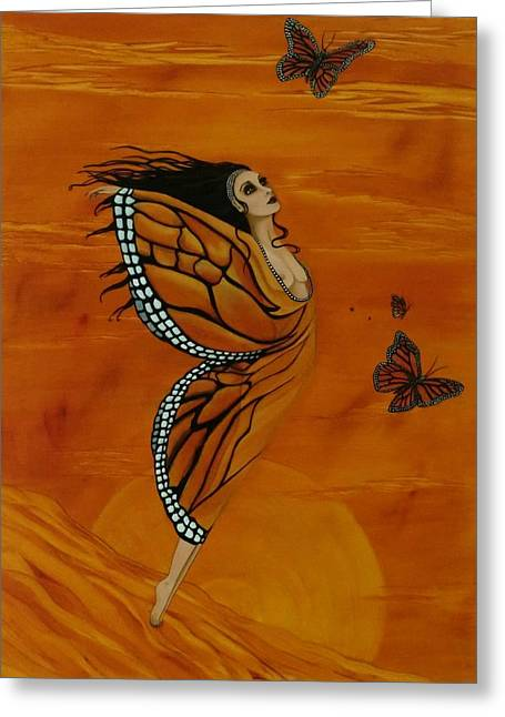 Erte Greeting Cards - Social Butterfly Greeting Card by Rosie Harper