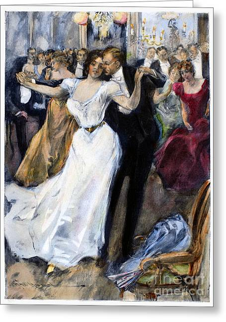Best Sellers -  - Ball Gown Greeting Cards - SOCIETY BALL, c1900 Greeting Card by Granger