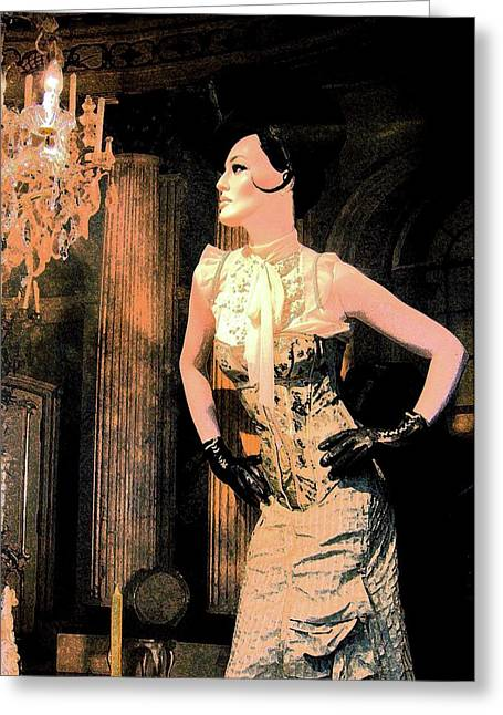 Barock Greeting Cards - Society Lady Greeting Card by Liona Toussaint