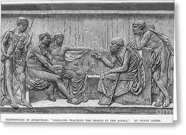 4th Century B.c. Greeting Cards - SOCRATES (c470-399 B.C.) Greeting Card by Granger