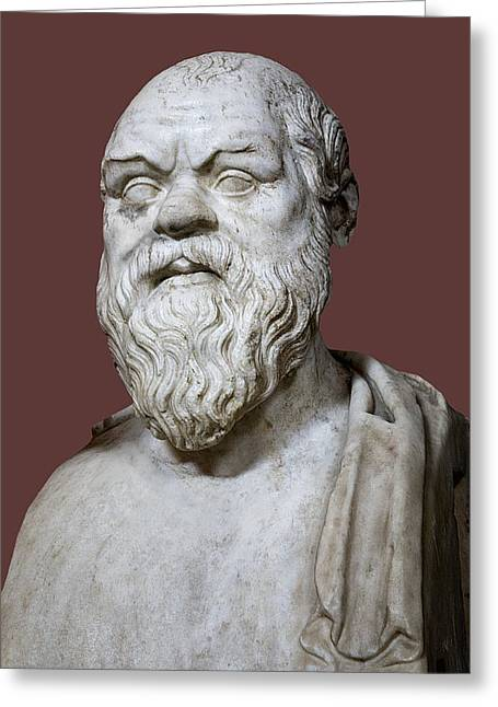 Orator Greeting Cards - Socrates Greeting Card by Sheila Terry