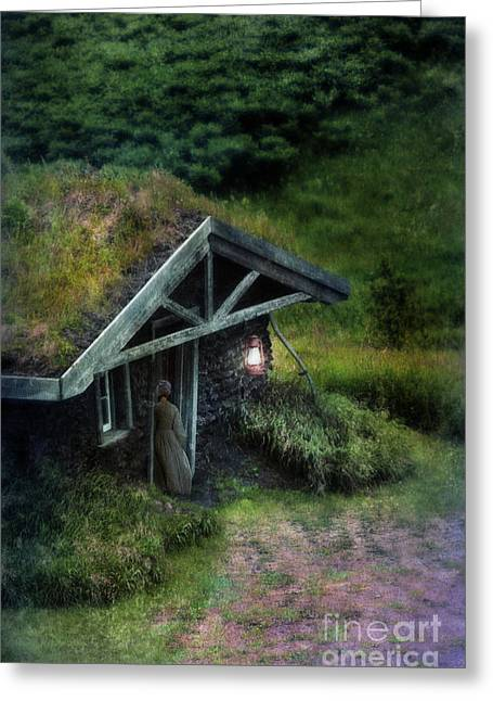 Pioneer Homes Photographs Greeting Cards - Sod House Greeting Card by Jill Battaglia