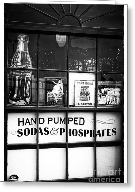 Carousel House Greeting Cards - Soda and Phosphates Greeting Card by John Rizzuto