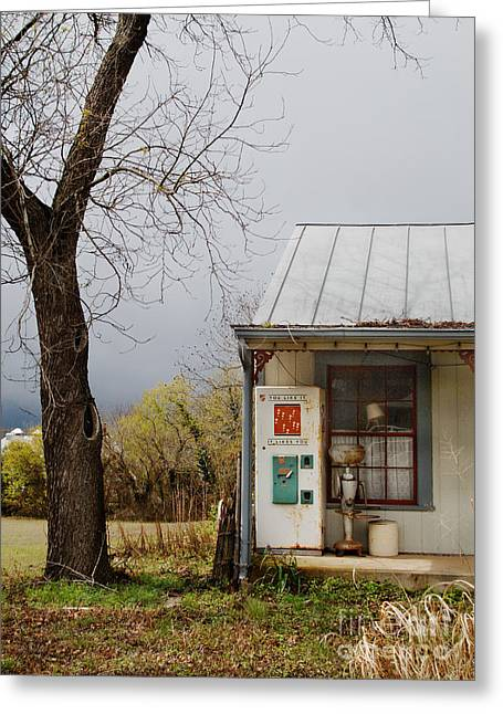 Vending Machine Photographs Greeting Cards - Soda Machine On Porch Greeting Card by Jill Battaglia