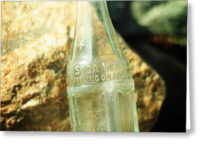 Soda Water Greeting Card by Rebecca Sherman