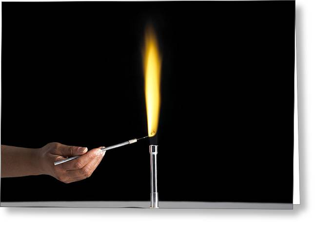 Flame Test Greeting Cards - Sodium Flame Test Greeting Card by