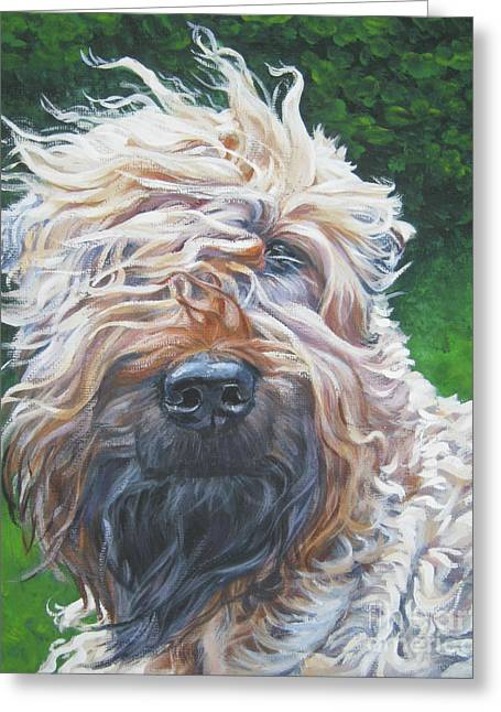 Soft Greeting Cards - Soft Coated Wheaten Terrier Greeting Card by Lee Ann Shepard