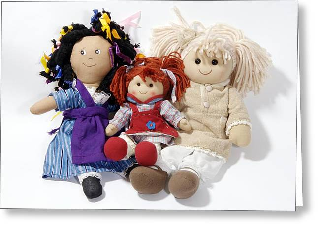 Stuffed Toy Greeting Cards - Soft Dolls Greeting Card by Johnny Greig