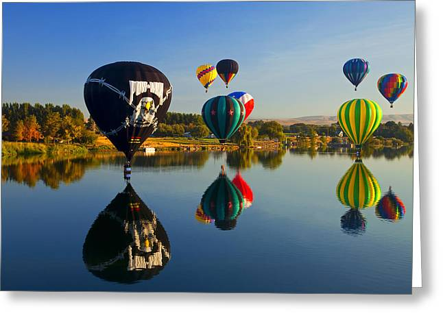 Soft Landings Greeting Card by Mike  Dawson