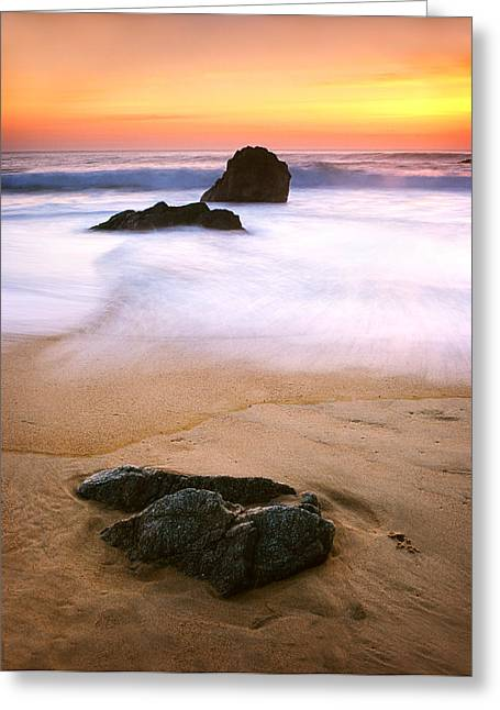 Coast Highway One Greeting Cards - Soft Light on Garrapata Beach Greeting Card by Edward Mendes