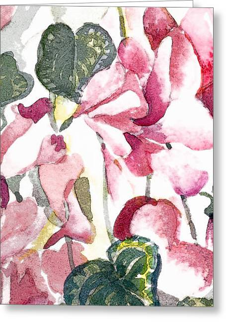 Flora Framed Prints Greeting Cards - Soft Pink Greeting Card by Mindy Newman