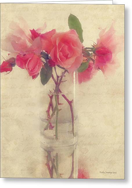 Kathy Jennings Photography Greeting Cards - Soft Rose Greeting Card by Kathy Jennings