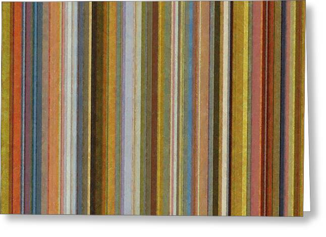 Geometric Design Greeting Cards - Soft Stripes ll Greeting Card by Michelle Calkins