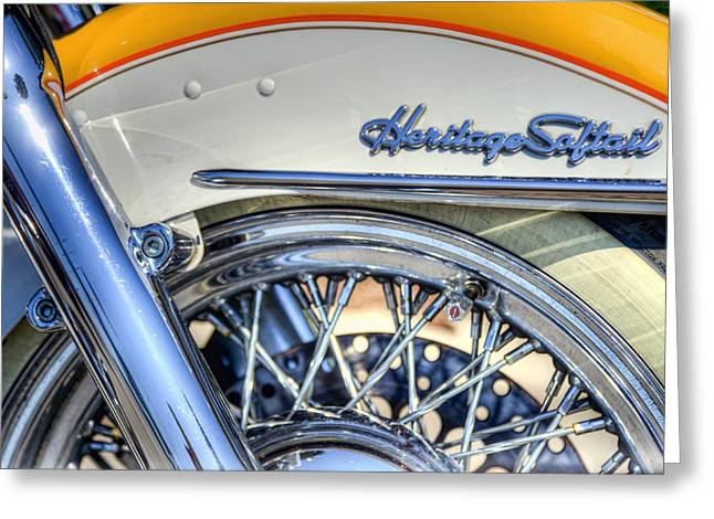Softail Greeting Card by Scott Norris