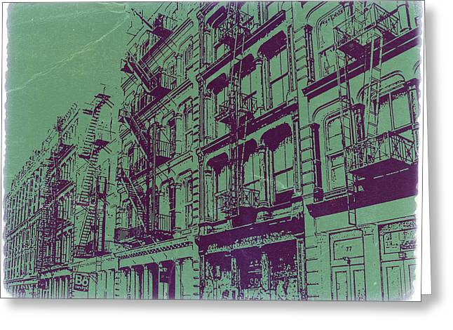 Soho New York Greeting Card by Naxart Studio
