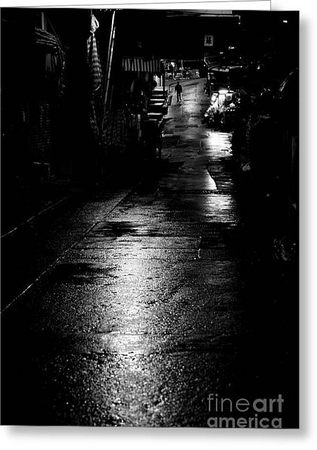 Intrigue Greeting Cards - Soho Noir Greeting Card by Dean Harte