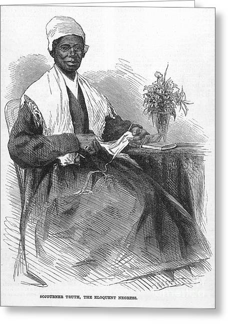 Reformer Greeting Cards - SOJOURNER TRUTH (d.1883) Greeting Card by Granger
