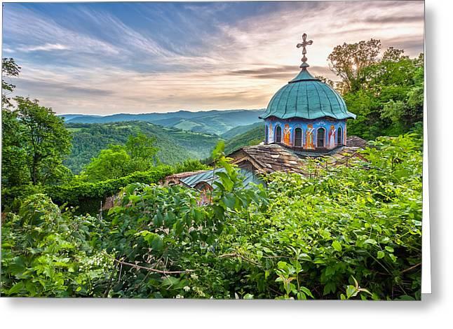Balkan Greeting Cards - Sokolski Monastery Greeting Card by Evgeni Dinev