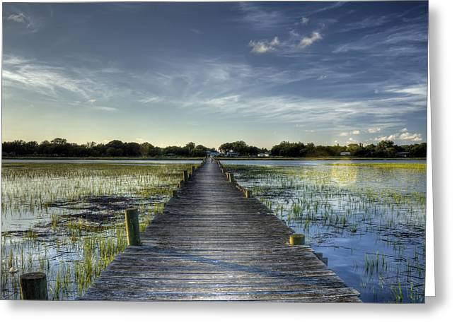 Hdr Landscape Greeting Cards - Sol Legare Dock Charleston SC Greeting Card by Dustin K Ryan