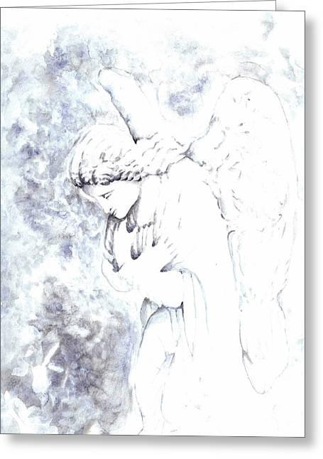 Solace Angel Greeting Card by Lisa Buchanan