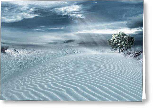 Sand Art Digital Art Greeting Cards - Solace Greeting Card by Lourry Legarde