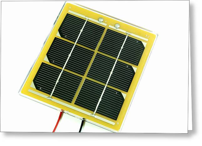 Energy Conversion Greeting Cards - Solar Cell Greeting Card by Friedrich Saurer