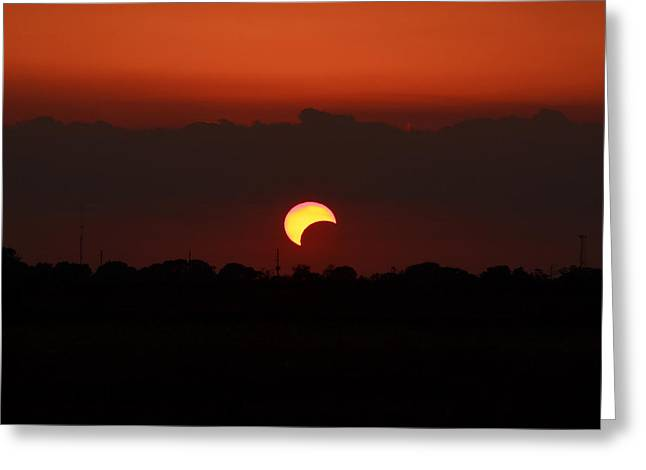 Solar Eclipse 2012 Greeting Card by Linda Unger