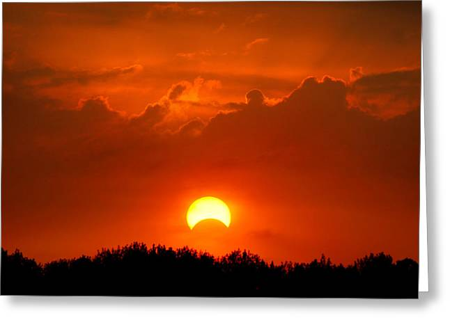 Luna Greeting Cards - Solar Eclipse Greeting Card by Bill Pevlor