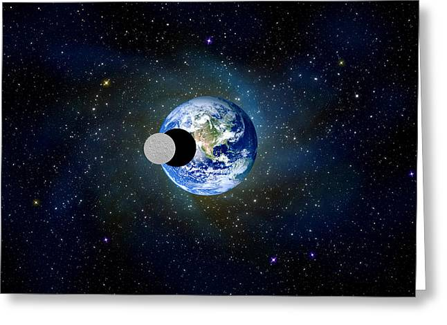 Solar Eclipse Greeting Card by Bruce Iorio