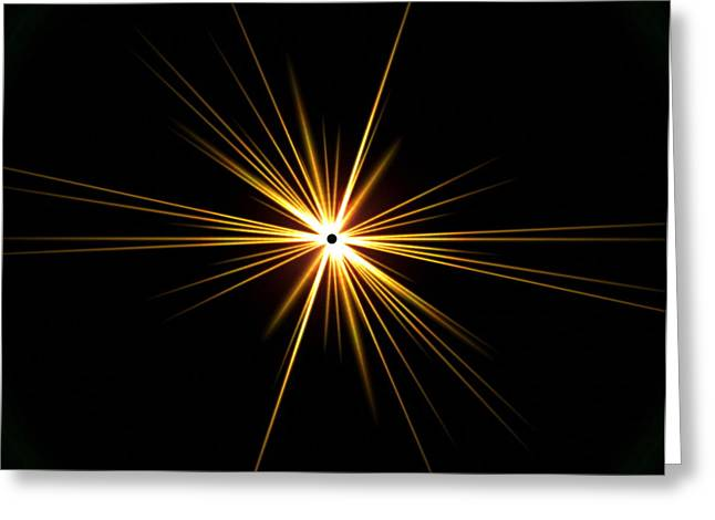 Flaring Greeting Cards - Solar Eclipse Flare Greeting Card by Roger Harris