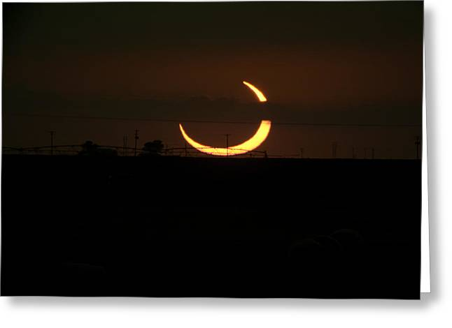 Rural Digital Art Greeting Cards - Solar Eclipse in Lubbock Texas Greeting Card by Melany Sarafis