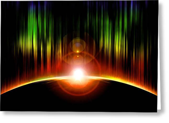 Born Star Greeting Cards - Solar Eclipse Greeting Card by Svetlana Sewell