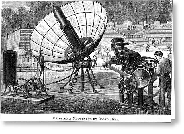 The Tuileries Gardens Greeting Cards - Solar Energy, 1882 Greeting Card by Granger