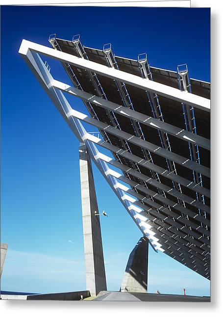 Solar Power Greeting Cards - Solar Power Station Greeting Card by Carlos Dominguez