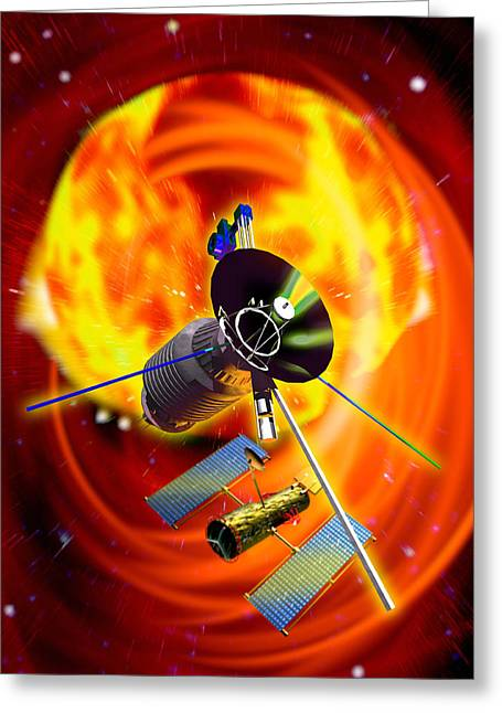 Astronomical Research Greeting Cards - Solar Probes Greeting Card by Victor Habbick Visions