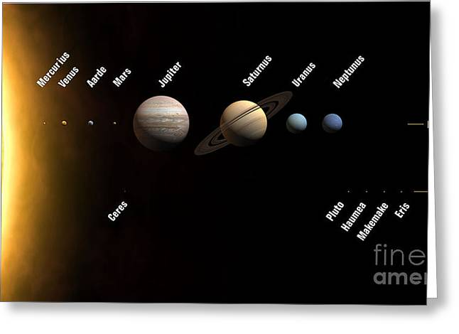 Space Photographs Greeting Cards - Solar System Greeting Card by Pg Reproductions