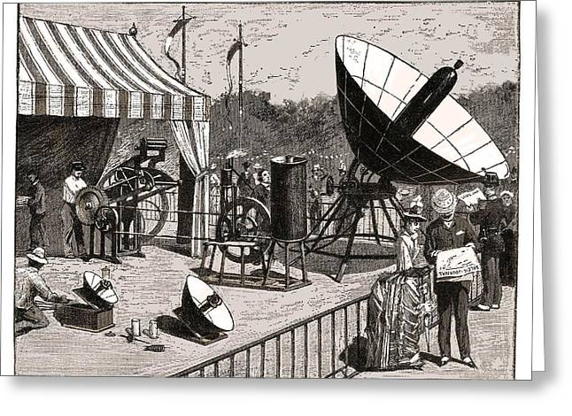 Non-polluting Greeting Cards - Solar Water Heater, 19th Century Artwork Greeting Card by Detlev Van Ravenswaay