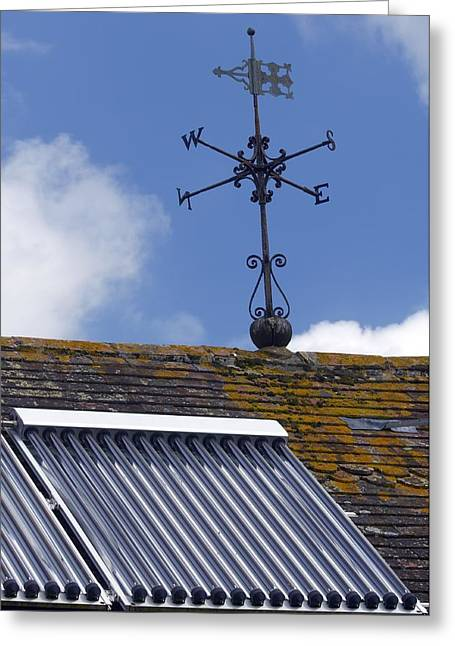 Wind Direction Greeting Cards - Solar Water Heating System Greeting Card by Jeremy Walker