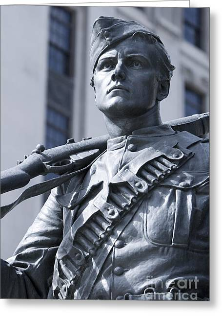 Statue Portrait Greeting Cards - Soldier Greeting Card by Igor Kislev