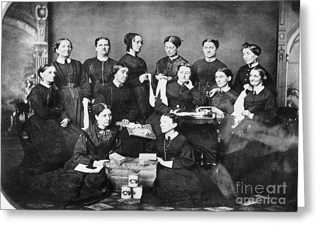 """""""war Women"""" Greeting Cards - Soldiers Aid Society, 1863 Greeting Card by Granger"""