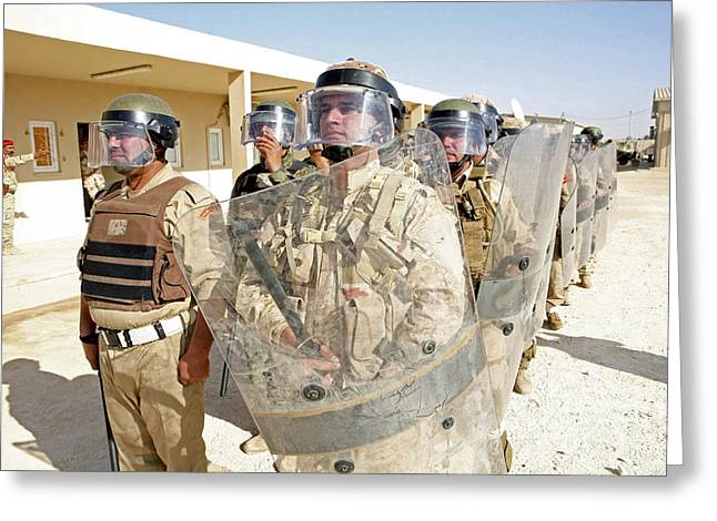 Law Enforcement Greeting Cards - Soldiers From The 7th Iraqi Army Greeting Card by Stocktrek Images