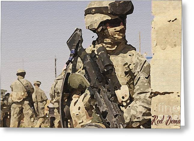 Soldiers. Greeting Card by Red Deviant