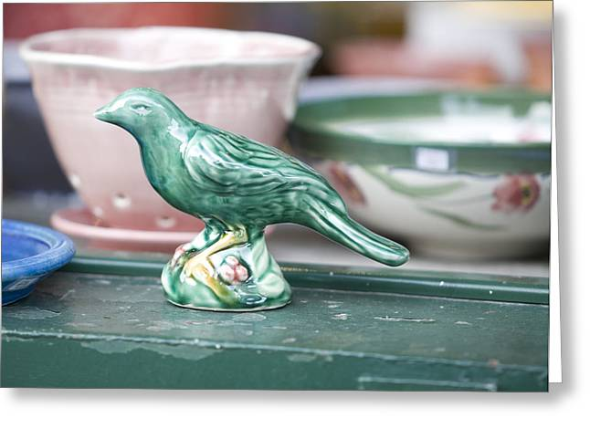 Birds Ceramics Greeting Cards - Sole Of A Single Poet Greeting Card by Brian Hayworth