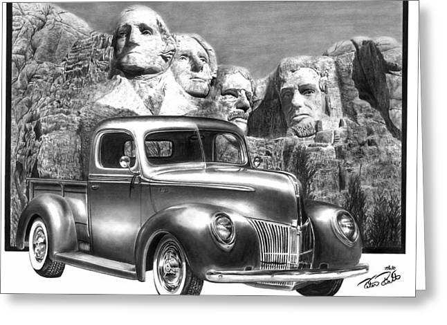 Charcoal Car Greeting Cards - Solid As A Rock Greeting Card by Peter Piatt