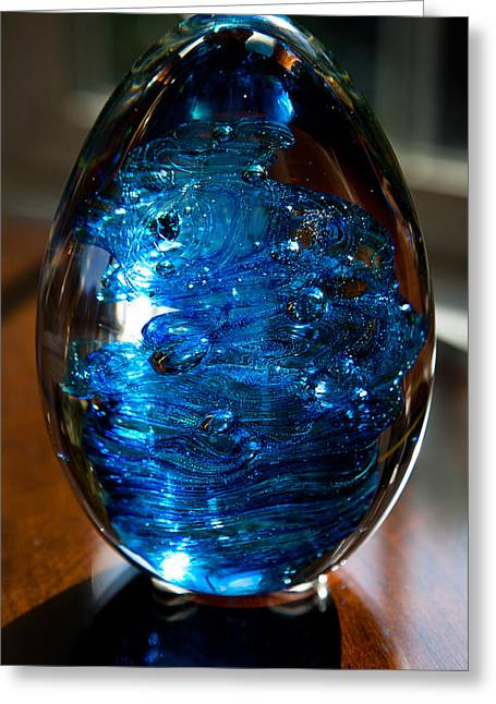Solid Glass Sculpture E7 Greeting Card by David Patterson