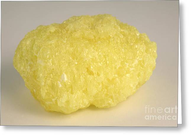 Solid State Greeting Cards - Solid Sulfur Greeting Card by Ted Kinsman